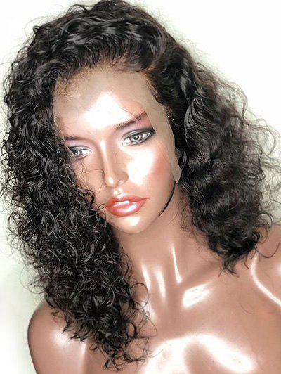Cheap Medium Free Part Curly Lace Front Synthetic Wig