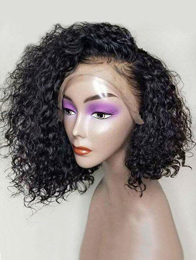 Fancy Medium Side Bang Curly Lace Front Synthetic Wig