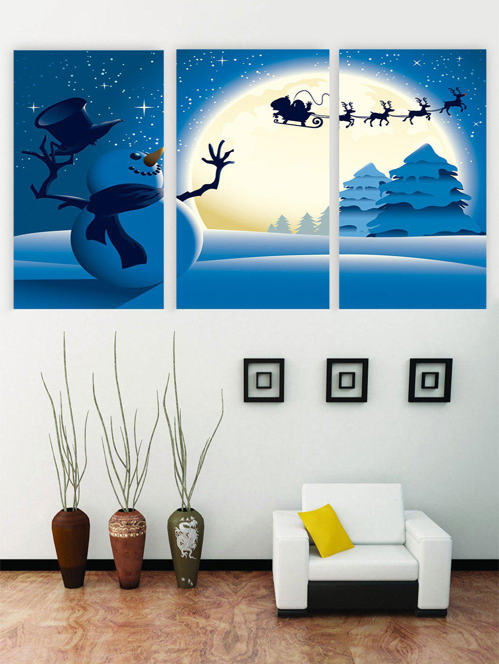 Outfits Unframed Christmas Snowman Deer Canvas Paintings