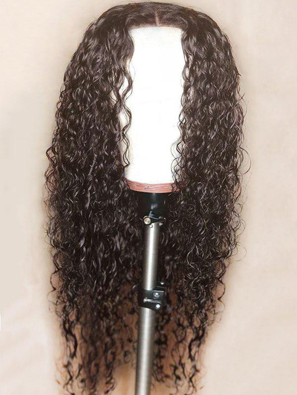Sale Long Center Parting Curly Lace Front Synthetic Wig