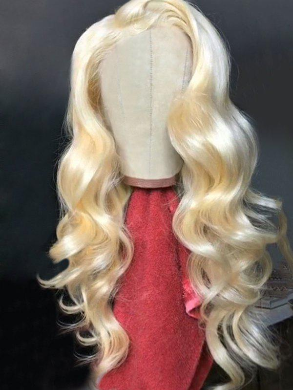 New Long Side Parting Body Wave Lace Front Synthetic Wig