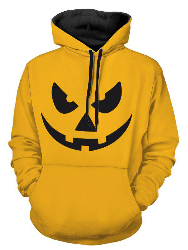 Chic Halloween Evil Smile Print Pullover Hoodie