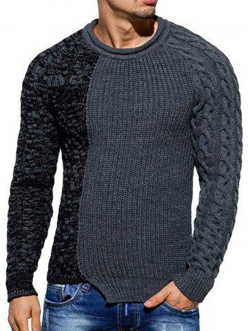 Slim Fit Spliced Pullover Sweater