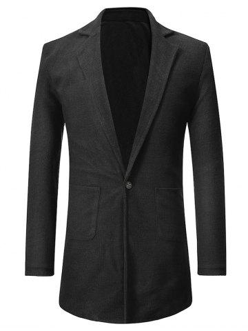 Single Button Two Pockets Blazer Coat