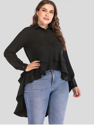 a36305a84933da ... Long Sleeve Black High Low Shirt Free Shipping Discount and Cheap