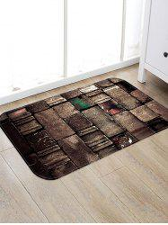Old Brick Wall Pattern Water Absorption Area Rug -