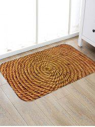 Coiled Rope Pattern Water Absorption Area Rug -