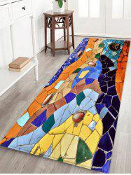 Colorful Tile Floor Pattern Water Absorption Area Rug -