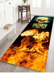 Halloween Skull Party Pattern Water Absorption Area Rug -