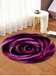 Rose Pattern Water Absorption Area Rug -
