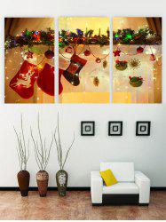 Unframed Christmas Socks Printed Canvas Paintings -