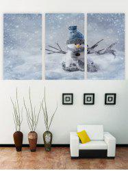 Unframed Snowman Christmas Canvas Paintings -