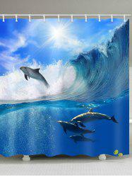 Dolphin Waterproof Shower Curtain -