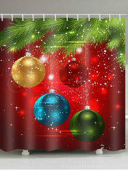 Coloful Christmas Ball Print Shower Curtain -