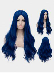 Long Center Parting Wavy Cosplay Party Synthetic Wig -