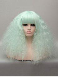 Medium Neat Bang Corn Hot Curly Party Cosplay Synthetic Wig -