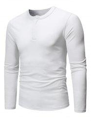 Long Sleeve Hidden Zipper Tee -