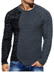 Slim Fit Spliced Pullover Sweater -
