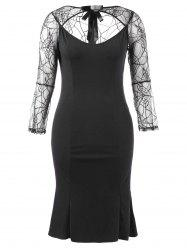 Halloween Plus Size Cut Out Bodycon Dress -