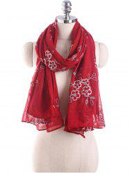Ethnic Flower Embroidery Design Shawl Scarf -