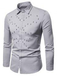 Solid Color Hollow Out Shirt -