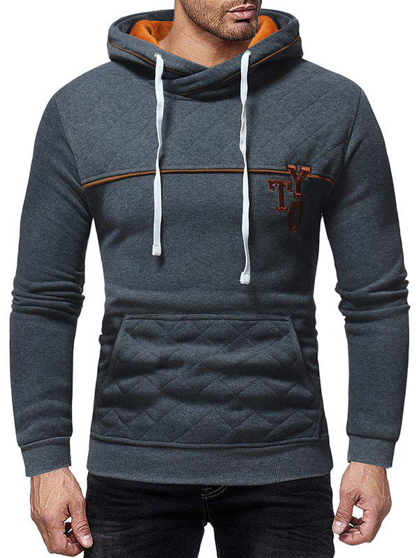 Affordable Embroidery Letter Contrast Color Hoodie