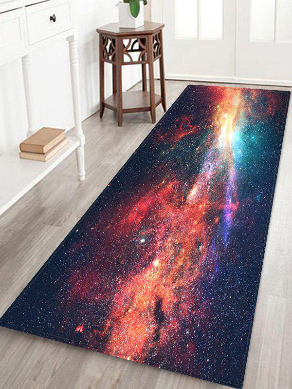 Affordable Starry Sky Galaxy Pattern Water Absorption Area Rug