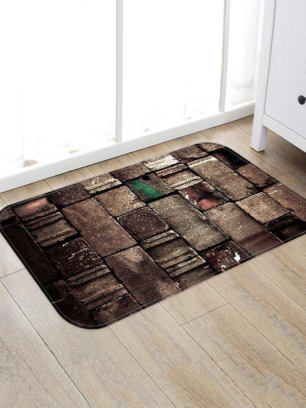 Cheap Old Brick Wall Pattern Water Absorption Area Rug