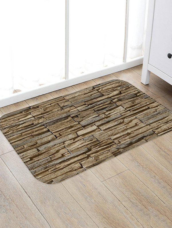Online Stone Brick Wall Pattern Water Absorption Area Rug