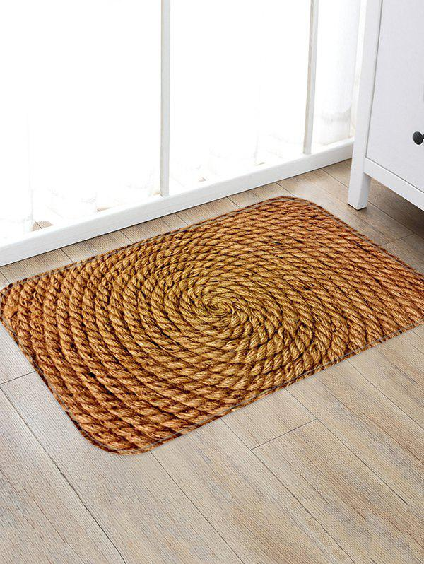 Store Coiled Rope Pattern Water Absorption Area Rug