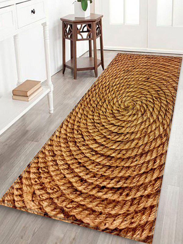 Discount Coiled Rope Pattern Water Absorption Area Rug