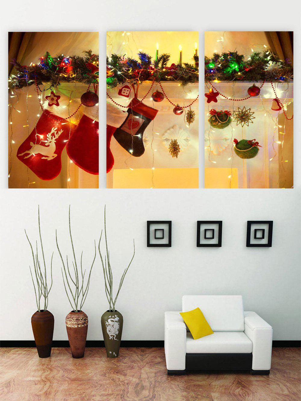 Outfit Unframed Christmas Socks Printed Canvas Paintings