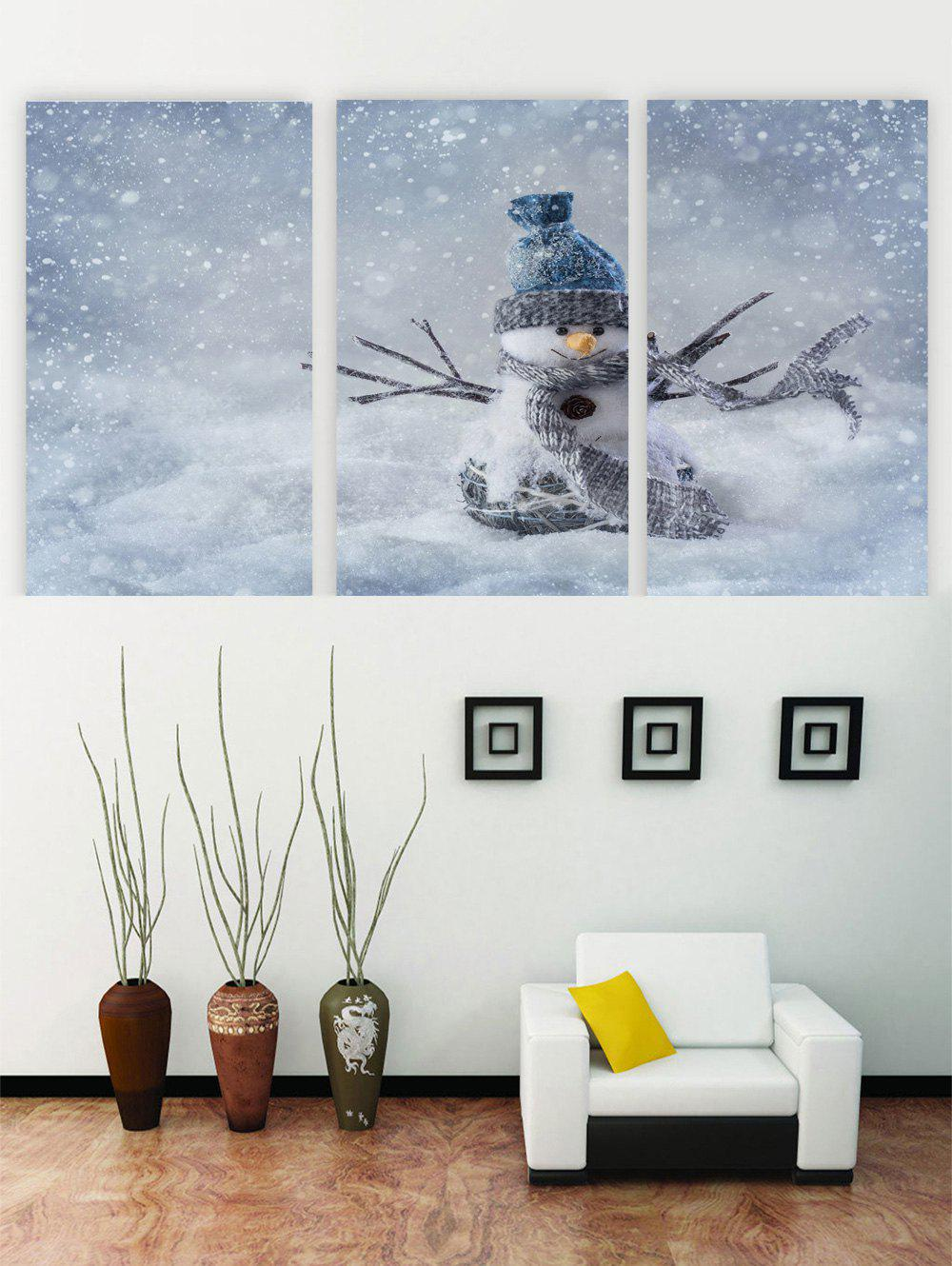 Hot Unframed Snowman Christmas Canvas Paintings