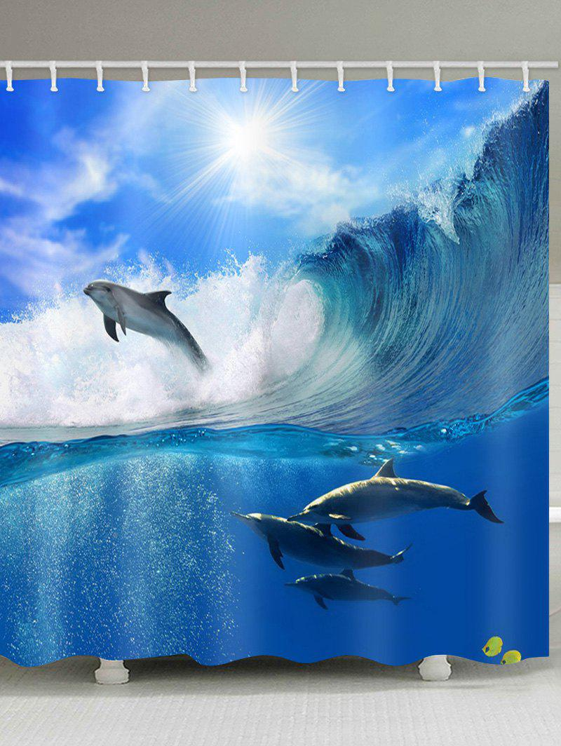 Dolphin Waterproof Shower Curtain