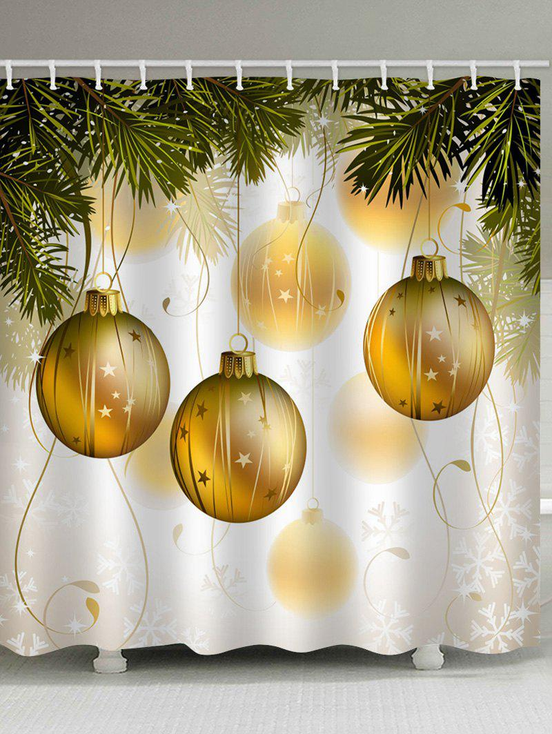 Store Christmas Ball Waterproof Bathroom Shower Curtain