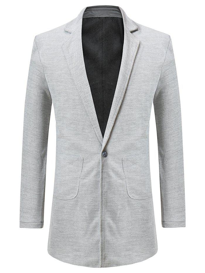 Affordable Single Button Two Pockets Blazer Coat