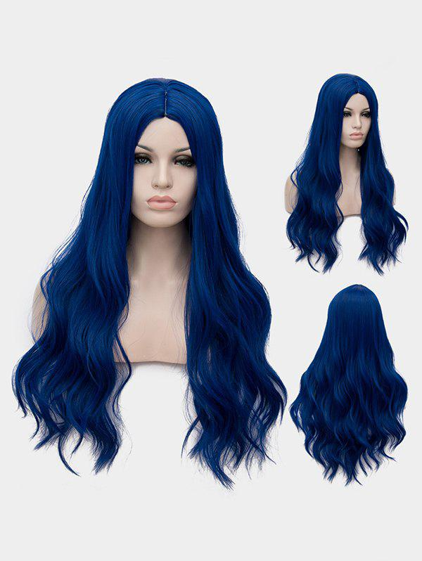 Affordable Long Center Parting Wavy Cosplay Party Synthetic Wig