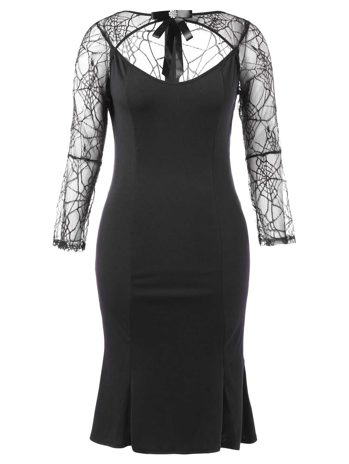 Store Halloween Plus Size Cut Out Bodycon Dress