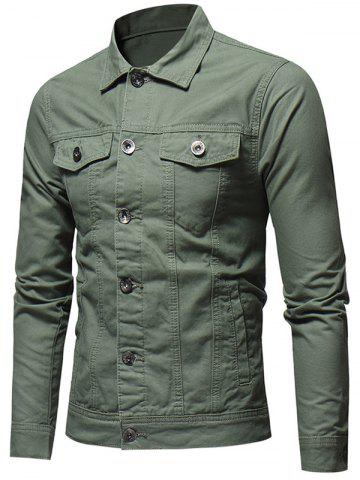 Button Placket Whole Colored Jacket