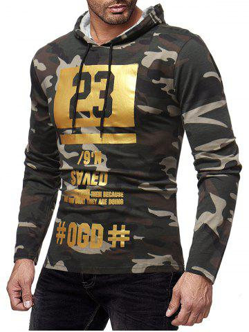 Camo Graphic Print Pullover Hoodie