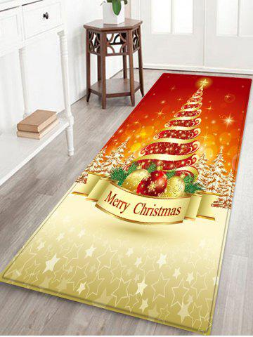 Christmas Tree Balls Pattern Water Absorption Area Rug