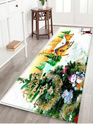 Christmas Tree House Pattern Water Absorption Area Rug