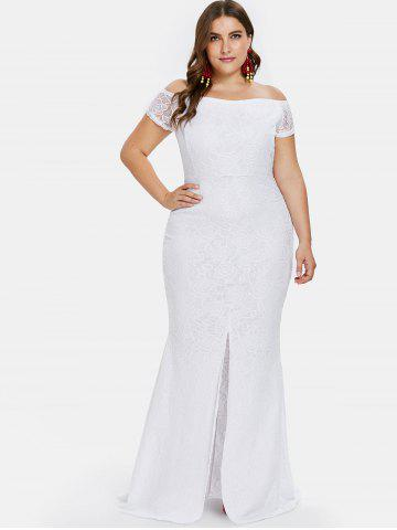 Plus Size White Lace Maxi Dress Free Shipping Discount And Cheap