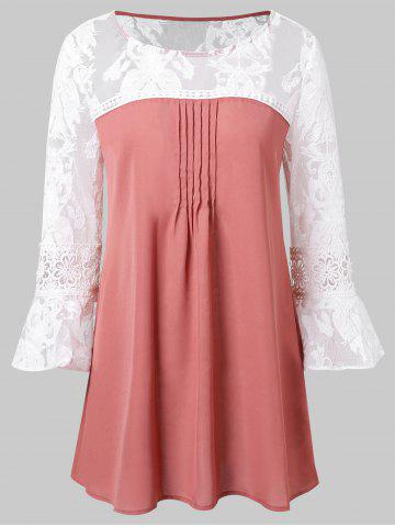 Bell Sleeve Two Tone Blouse