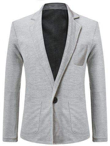 Solid Color Single Button Blazer Coat