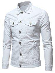 Button Placket Whole Colored Jacket -