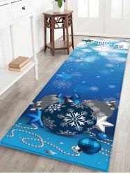 Merry Christmas Balls Pattern Water Absorption Area Rug -