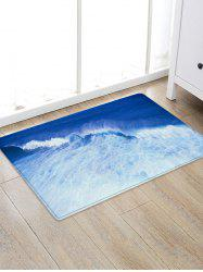Sea Wave Pattern Water Absorption Area Rug -
