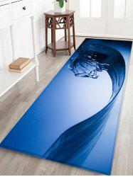 Water Wave Pattern Water Absorption Area Rug -
