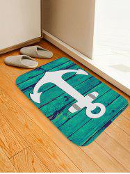 Anchor Wood Grain Pattern Water Absorption Area Rug -